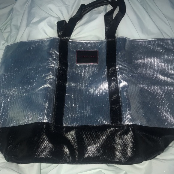 Victoria's Secret Handbags - victoria's secret silver tote